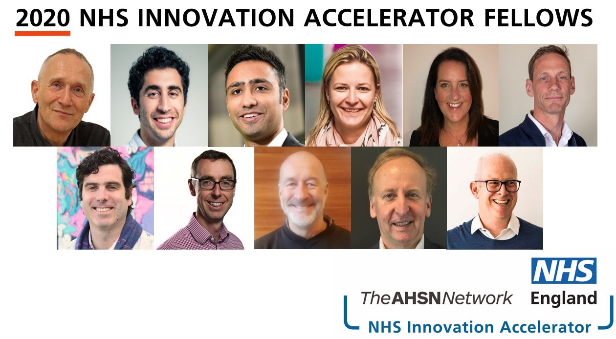 The 11 fellows selected as part of the NHS Innovation Accelerator Programme 2020
