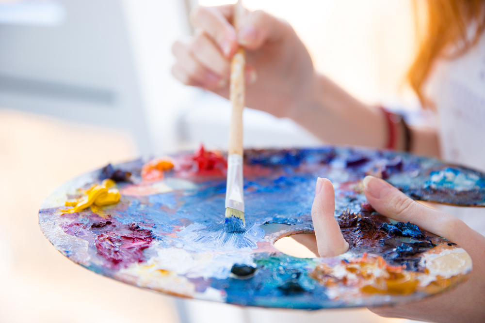 Painting - an example of the creative talents of people with ADHD